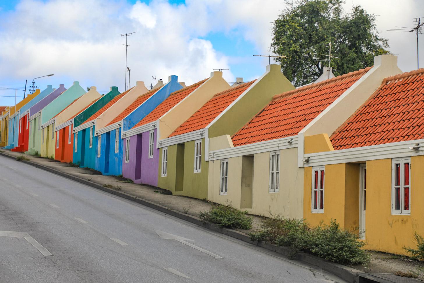 De typische arbeidershuisjes op Berg Altena in Willemstad