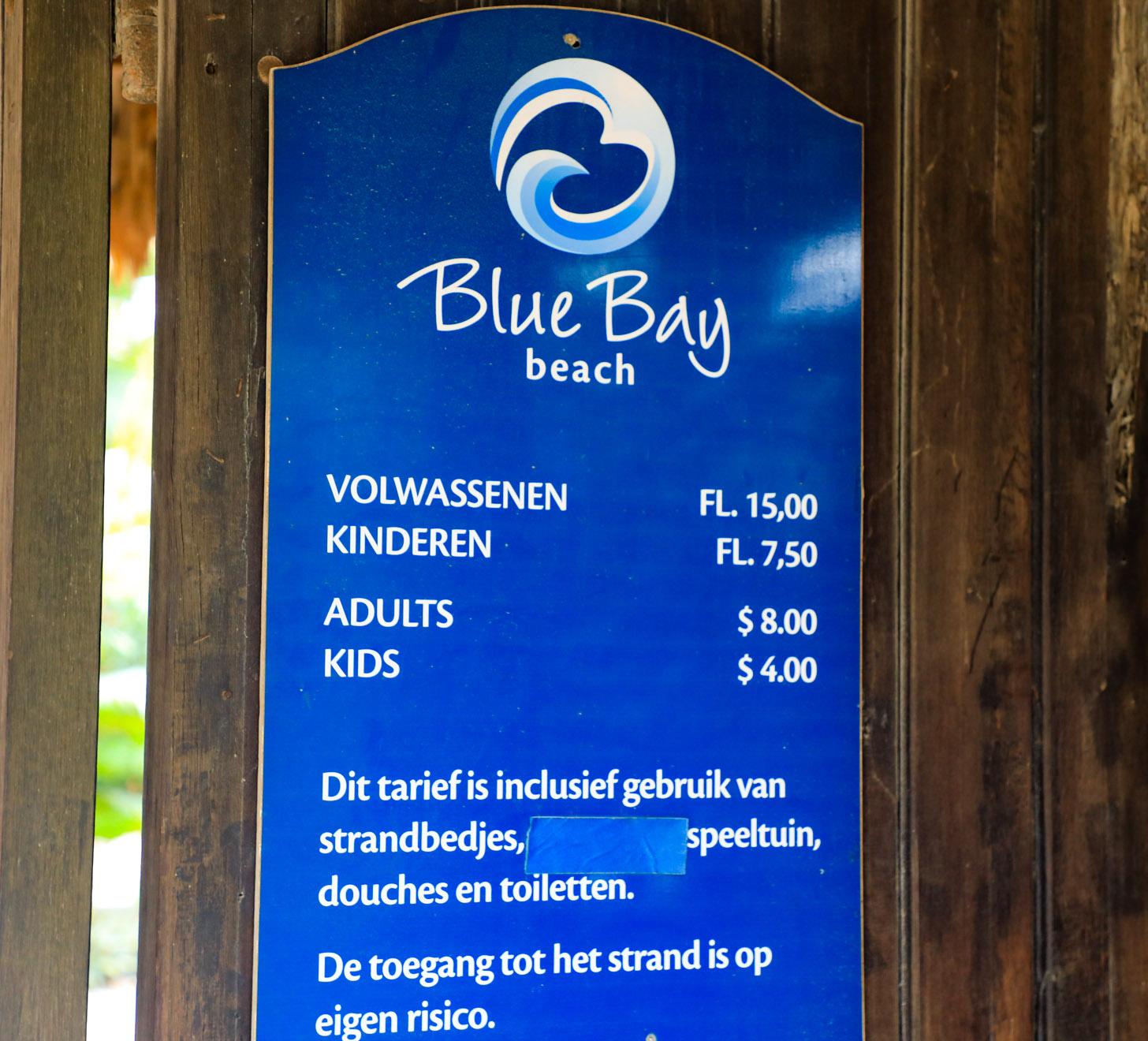Op Curacao is het vrij normaal dat je moet betalen voor de toegang tot het strand