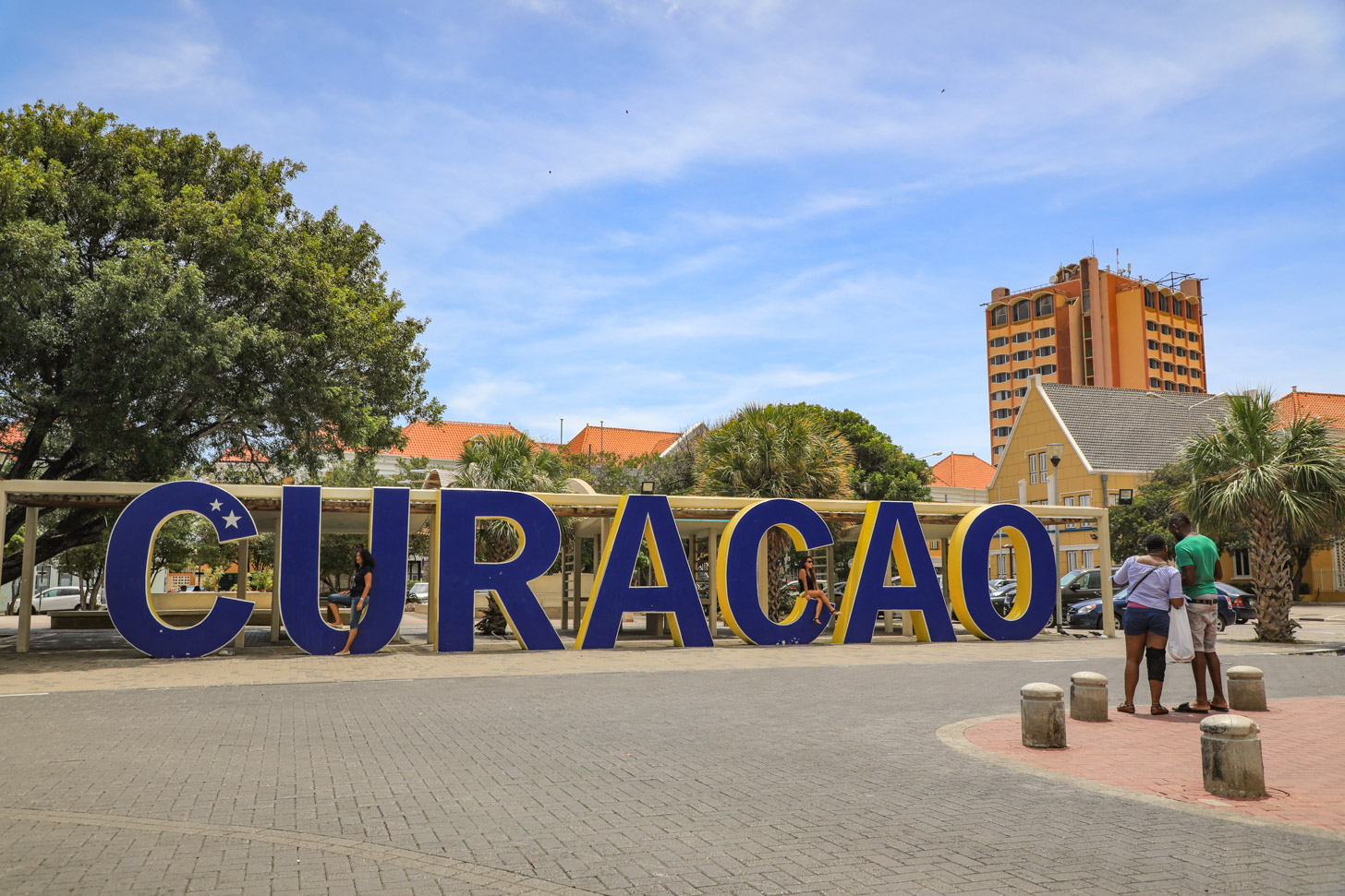 Het Curacao-sign in Willemstad