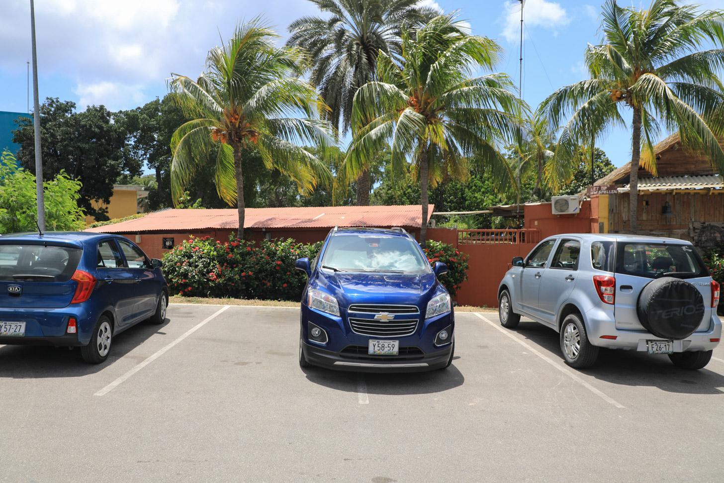 Deze auto heeft twee parkeervakken nodig om te parkeren